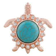 ROSE GOLD - TURTLE (TURQUOISE)