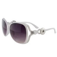SUNGLASSES - STYLISH SILVER ROSE (WHITE)