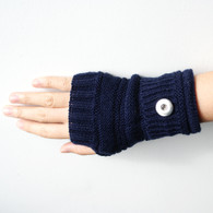 KNITTED GLOVES PAIR- NAVY (SHORT)