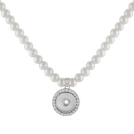 NECKLACE - MEGANS PEARL (SILVER)