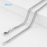 CHAIN - BIG ROPE 46CM - SILVER
