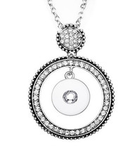 PENDANT - LUXE PAVE CRYSTALS HALO