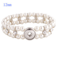 BRACELET - STRAND TWO LAYERS PEARLS (WHITE)