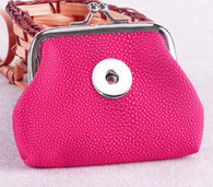 MINI SOFT LEATHER COIN PURSE - HOT PINK