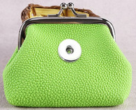 MINI SOFT LEATHER COIN PURSE - CHARTREUSE