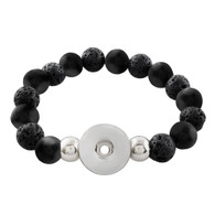 STRETCH BRACELET - BLACK LAVA ESSENCE