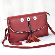 SOFT LEATHER LADY DI INSPIRED BAG - CORAL RED