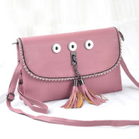 SOFT LEATHER LADY DI INSPIRED BAG - REAL PINK