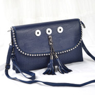 SOFT LEATHER LADY DI INSPIRED BAG - INTENSE NAVY