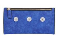 SOFT LEATHER CHIC ACCESORY BAG - BLUE