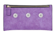 SOFT LEATHER CHIC ACCESSORY BAG - PURPLE