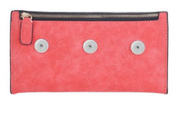 SOFT LEATHER CHIC ACCESSORY BAG - PINK SALMON