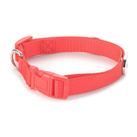 LEATHER COLLAR - SMALL DOG (RED)
