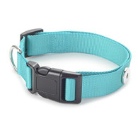 LEATHER COLLAR - BIG DOG (TEAL TURQ)