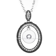 PENDANT - LUXE PAVE CRYSTALS OVAL