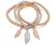 STRETCH BOHO - LONG LEAVES BRACELET
