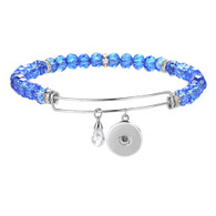 BANGLE LUXE SS - CZ STONES (BLUE)