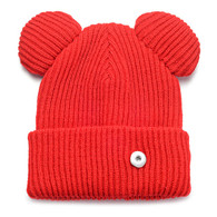 KNIT HAT - MAGIC RED