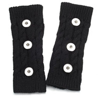 KNITTED GLOVES PAIR- BLACK (LONG 3B)