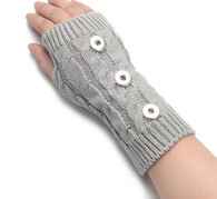 KNITTED GLOVES PAIR- GRAY (LONG 3B)