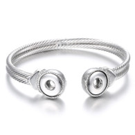 LUXE  MINI CUFF DOUBLE ROPE BANGLE- 2B