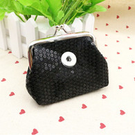 MINI GLAZEN COIN PURSE - BLACK