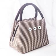 DIVAS BAG STRIPES - CHOCOLATE
