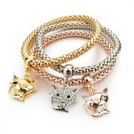 STRETCH MESH - GLITZY CAT BRACELET
