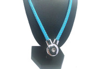 JUST ONE LEATHER NECKLACE - TURQUOISE