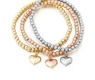 STRETCH BOHO - MINI HEARTS BRACELET