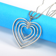 NECKLACE - HEARTS INTENSITY (SILVER)