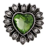 BIJOUX  HEART - PERIDOT