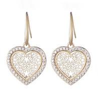 EARRINGS- STARS IN A HEART (GOLD)