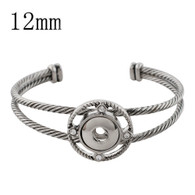 MINI BANGLE -  CROSSOVER (SILVER)