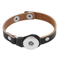 BRACELET - CENTURION LEATHER (BLACK)