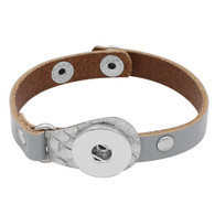 BRACELET - CENTURION LEATHER (GRAY)
