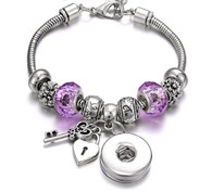 CHARMBEADS - OPEN MY HEART (PURPLE)
