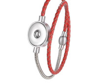 LEATHER BANGLE - RED
