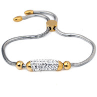 CHARMBEADS (LUXE SS) - CUBIC (SILVER & GOLD)