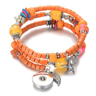 BANGLE - MALI WOOD (ORANGE)
