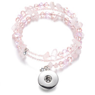 BANGLE - CZ STONES & BEADS (SWEET PINK)