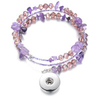 BANGLE - CZ STONES & BEADS (PURPLE)
