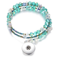 BANGLE - CZ STONES & BEADS (TURQUOISE GREEN)