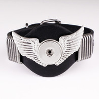 LALAKI - WINGS LEATHER BRACELET (BLACK)