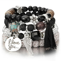 BANGLE - BELICE STONES(BLACK)