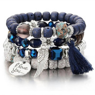 BANGLE - BELICE STONES(NAVY)