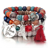 BANGLE - BELICE STONES (COLORS)