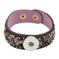 BRACELET - NATURAL STONES (PURPLE)