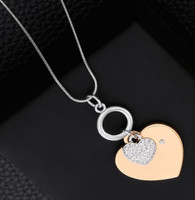 NECKLACE & BRACELET SET - TRUE LOVE (SILVER & GOLD)