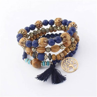 BANGLE - BELICE STONES (WOOD & NAVY TOL)
